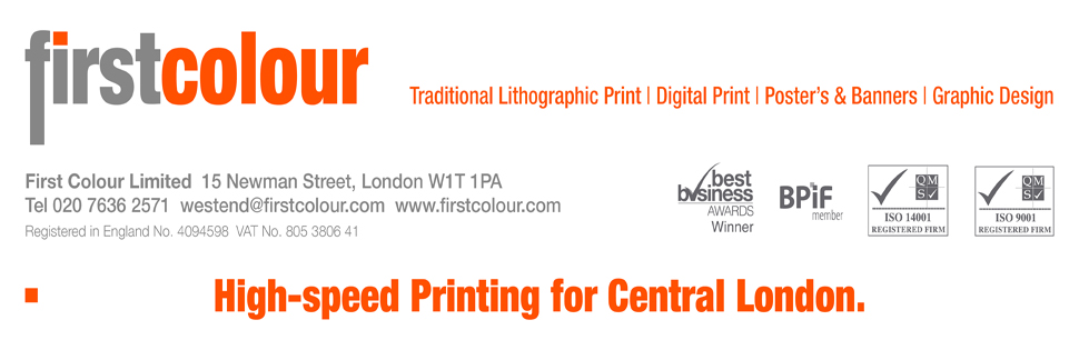 First Colour  Printing Services London W1